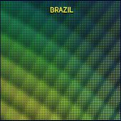 Digital background Brazil — Stock Vector