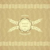 Vintage design emblem for baked goods — Stock Vector