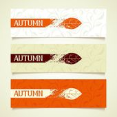 Set autumn banners — Stock Vector
