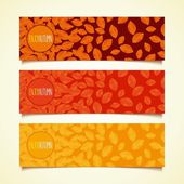 Autumn leaf fall banners — Stock Vector