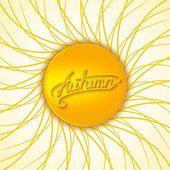 Autumn seasonal design — Stock vektor