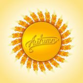 Autumn harvest design element — Stock Vector