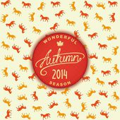 Autumn season 2014 — Stock Vector