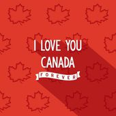 Canadian quote poster design — Stock Vector