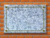 Background - memorial plaque — Stock Photo