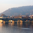 Morning view of  Charles bridge - Stock Photo