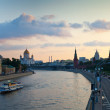 Panoramic view of Moscow in sunset — Stock Photo