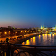 Stock Photo: Moskva River in night. Russia