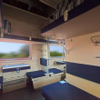 Interior of sleeper train - Stock Photo