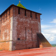 Kremlin wall at Nizhny Novgorod in summer — Stock Photo #13645219