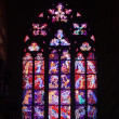 Stained-glass window in Saint Vitus Cathedral  — Stock Photo