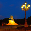 Statue of Peter the Great in night — Lizenzfreies Foto