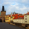 Day view of  Charles bridge. Prague - Stock Photo