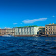 View of St. Petersburg. Palace Embankment - Stock Photo