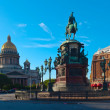 Monument to Nicholas I in Saint Petersburg, Russia — Stock Photo #13645339