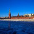 Moscow Kremlin in winter — Foto de Stock
