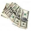 Bundles of US dollars bank notes - Stock Photo