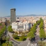 Панорамный вид города Барселона — Стоковое фото