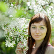 Portrait of girl in spring — Stock Photo