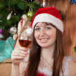 Happy girl celebrating Christmas - Stock Photo