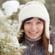 Winter portrait of girl - Stockfoto