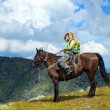 Rider on horseback — Stock Photo