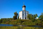 Igreja da intercessão no nerl rio — Foto Stock