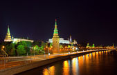 Moscow Kremlin in night. Russia — Stock Photo