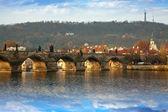 Prague wih Charles bridge — Stock Photo
