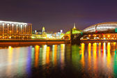 Bogdan Khmelnitsky Bridge in summer night — Stock Photo