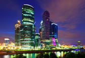 Moscow business centre in night — Stock Photo