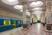Interior of metro station in Moscow — Stok fotoğraf