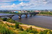 Niżny nowogród molitovsky bridge — Zdjęcie stockowe