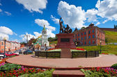 Monument to Minin and Pozharsky at Nizhny Novgorod — Stock Photo