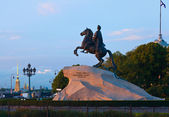 Equestrian statue of Peter the Great — Stock Photo