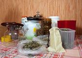 Hierbas en la cocina de casa — Foto de Stock