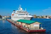 Cruise liner in Saint Petersburg — Stock Photo