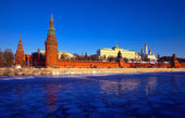 Moscow Kremlin in winter — 图库照片