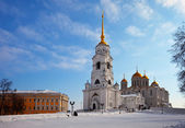 Assumption cathedral at Vladimir in winter — Stock Photo