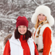 Stock Photo: Girls in winter
