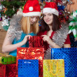 Royalty-Free Stock Photo: Girls christmas gifts