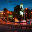 Night view of Ivanovo - Lenin Avenue — Stock Photo