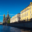 Stock Photo: Church of the Savior on Spilled Blood in St. Petersburg in summe