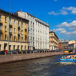 View of St. Petersburg. Moyka River in sunny day — Stock Photo
