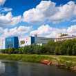 Stock Photo: Shopping centers along river Uvod