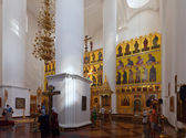 Interior of Assumption cathedral at Yaroslavl. Russia — Stock Photo