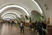 "Interior of metro station ""Ploshchad Vosstaniya"" in St. Petersb — Stock Photo"