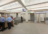 Ticket gate in metro station — Stock Photo
