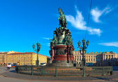 Monument to Nicholas I in Saint Petersburg, Russia — Stock Photo
