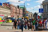 Nevsky Prospect in Saint Petersburg — Stock Photo